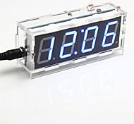 baratos -kit relógio de mesa de controle digital de luz display de sete segmentos de 4 dígitos diy (azul claro)
