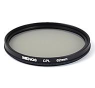 mengs® 62мм CPL круговой поляризационный фильтр протектор с алюминиевой рамкой для цифровой камеры и зеркальные / DSLR / DC / видеокамеры