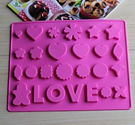 Bakeware Silicone LOVE Baking Molds for Chocolate  (Random Colors)
