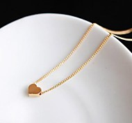 cheap -Women's Heart Pendant Necklace - Love Heart Simple Style Heart Necklace For Wedding Party Gift Daily Casual