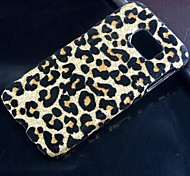 Leopard Pattern Design Plastic Cover Hard protection Back Cover for Samsung Galaxy S6 edge G9250