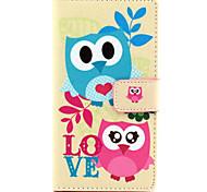 For Nokia Case Wallet / Card Holder / with Stand Case Full Body Case Owl Hard PU Leather NokiaNokia Lumia 830 / Nokia Lumia 640 / Nokia