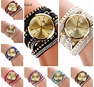 Women's  Fashion Big Round  Dial  Diamante Mushroom Circuit Flocking  Band Quartz  Watch (Assorted Color)C&d222 Cool Watches Unique Watches