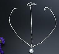Недорогие -классическая бриллиантовая цепочка свадьба / партийный головной убор классический женский стиль
