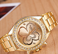 cheap -yoonheel Women's Wrist Watch Casual Watch Metal Band Charm / Casual / Fashion Gold / One Year / SODA AG4