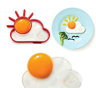 dom anillo de forma de la nube de huevos para el desayuno, herramientas de cocina molde de huevo, silicona, l10 * w8 * h1.2cm