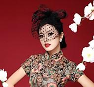 Handmade Chiffon Flower Feather Hair accessories Bridal Wedding Fascinators Veil Hat(Assorted Color)