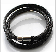 cheap -Men's Leather Wrap Bracelet - Basic Plaited Fashion Jewelry White Black Coffee Bracelet For Daily Casual Sports