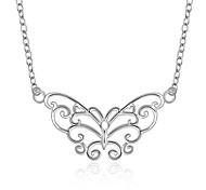Women's Choker Necklaces Pendant Necklaces Statement Necklaces Pendants Silver Sterling Silver Zircon Gem Fashion White JewelryWedding
