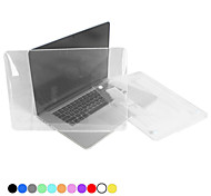 "Case for MacBook Pro 13.3"" with Retina display Solid Color Plastic Material Protective Polycarbonate Translucent Full Body Crystal Case"
