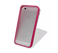 ТПУ яркими кадр и ПК маты прозрачный тонкий задняя крышка для iPhone 5с (ассорти цветов)