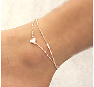 cheap -Others / Heart Anklet - Women's Golden Unique Design / Love / Fashion Anklet For Christmas Gifts / Daily / Casual