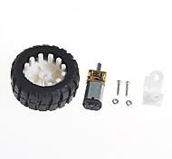 abordables -motorreductores con soporte de la rueda del neumático de goma robot (6v100 turno)
