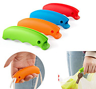 1PCS Silicone Shopping Bag Grip Handle with Keychain Hole(Random Color)