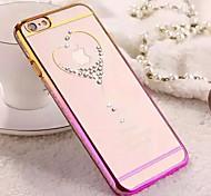 алмазные шику прозрачная задняя крышка чехол для iPhone 4 / 4s (ассорти цветов)