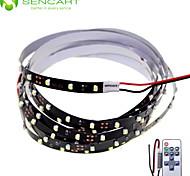 200cm 10W 120x3528SMD White / Cool White  Light LED Strip Lamp for Car + 11-Key RF Controller (DC 12V)