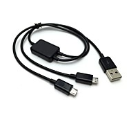 2 in 1 USB Cable 1 to 2 Micro USB Dual Plug Data Charger Cable for HTC Samsung Universal Micro Connectors