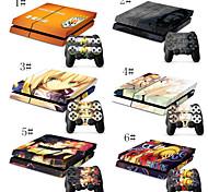 Недорогие -один кусочек& мультфильм комбо гибкая оболочка для PS4 игровой консоли& 2 PS4 оболочек игровой контроллер