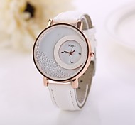 cheap -Women's Floating Crystal Watch Fashion Watch Quartz Imitation Diamond PU Band Flower White Red Pink Purple