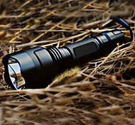 LED Flashlights / Torch LED 200 lm 5 Mode Cree XR-E Q5 with Battery and Charger Rechargeable Tactical Camping/Hiking/Caving Black