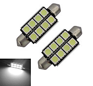 Festoon Decoration Light 8 SMD 5050 150-170lm Cold White 6000-6500K DC 12V
