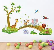 estilo calcomanías de pared pegatinas pared precioso bosque pegatinas de pared de pvc animales