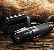 W-878 Key Chain Flashlights LED 2200 Lumens 5 Mode Cree XM-L T6 Adjustable Focus Nonslip grip Zoomable for Camping/Hiking/Caving Everyday