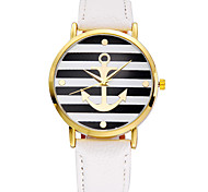 cheap -5 Colors New Arrival Fashion Leather Strap Anchor GENEVA Watches Women Dress Watches Cool Watches Unique Watches