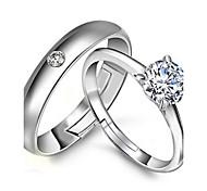 Недорогие -Женский Массивные кольца Регулируется Стерлинговое серебро Бижутерия Свадьба Для вечеринок Обручение