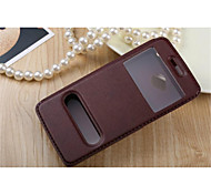 For HTC Case with Stand / with Windows / Flip Case Full Body Case Solid Color Hard PU Leather for HTCHTC One M9 / HTC One M7 / HTC One M8