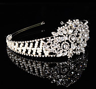 Bridal Crown Silver Tiara Queen Flower Leaf Butterfly Crystal/Diamond Hairclips Headpiece Wedding/Party