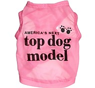 cheap -Cat Dog Shirt / T-Shirt Dog Clothes Cosplay Letter & Number Rose Blue Costume For Pets