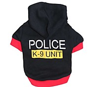 Cat / Dog Hoodie Red / Black Dog Clothes Winter / Spring/Fall Letter & Number Fashion / Sports