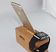 legno del supporto del basamento del caricatore per la vigilanza di mele e iphone 6 plus / 6 / 5s / 5