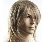 cheap -Top Grade Quality Man's short Blonde straight Synthetic hair wig Men's Best Choice free shipping