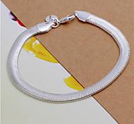 cheap -Geometric Chain Bracelet - Sterling Silver Snake Fashion Bracelet Silvery For Wedding / Party / Daily