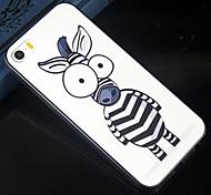 Размер глаз мультфильм зебра дизайн шаблон Защитные Футляр для iPhone 5с