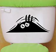 Недорогие -наклейки для стен стены наклейки наклейки стиль глаз туалет ванная комната украшения стены PVC