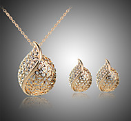 cheap -Women's Jewelry Set Stud Earrings Pendant Necklace Crystal Crystal Rhinestone Silver Plated Rose Gold Plated Heart Bridal Statement