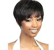 шапки черный экстра короткие высокое качество естественная прямая синтетический парик