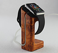 For Apple Watch  Charger Stand Gold Peach Wooden Material Apple Watch Mounts & Holders