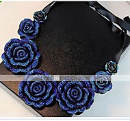 cheap -Women's Roses Flower Floral Flower Style Vintage Flowers Bohemia Choker Necklace Collar Necklace Resin Fabric Alloy Choker Necklace