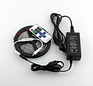 Недорогие -Z®zdm водонепроницаемый 5m 600x3528 smd светодиодный индикатор полосы и 11key RF контроллер и 12v3a eu / us / uk источник питания