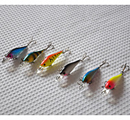cheap -65mm 4.5g Mini  Minnow Hard Bait Fishing Lure Set (6pcs/set)