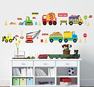 наклейки для стен стены наклейки наклейки в стиле мультфильм автомобиль ПВХ стены