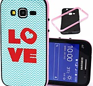 2-in-1 Love Heart Pattern TPU Back Cover with PC Bumper Shockproof Soft Case for Samsung Core Prime G360/Core 2 G355H