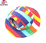 cheap -Cat Dog Bandanas & Hats Dog Clothes Holiday Casual/Daily Stripe Rainbow Costume For Pets