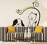 Недорогие -наклейки для стен стены наклейки наклейки в стиле мультфильм собака кошка ПВХ стены