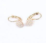 cheap -Women's Crystal Rhinestone Gold Plated Austria Crystal 18K Gold Imitation Diamond Stud Earrings - Fashion European Earrings For