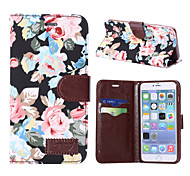 For Apple iphone7 iphone7 Plus iphone6s iphone6s Plus iphone6 iphone6 Plus The Flower Pattern PU Leather Case for iphone SE 5c 5s 5 iphone 4s 4